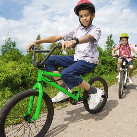 take a ride on the bike paths found in Watershed's community of new townhomes for sale