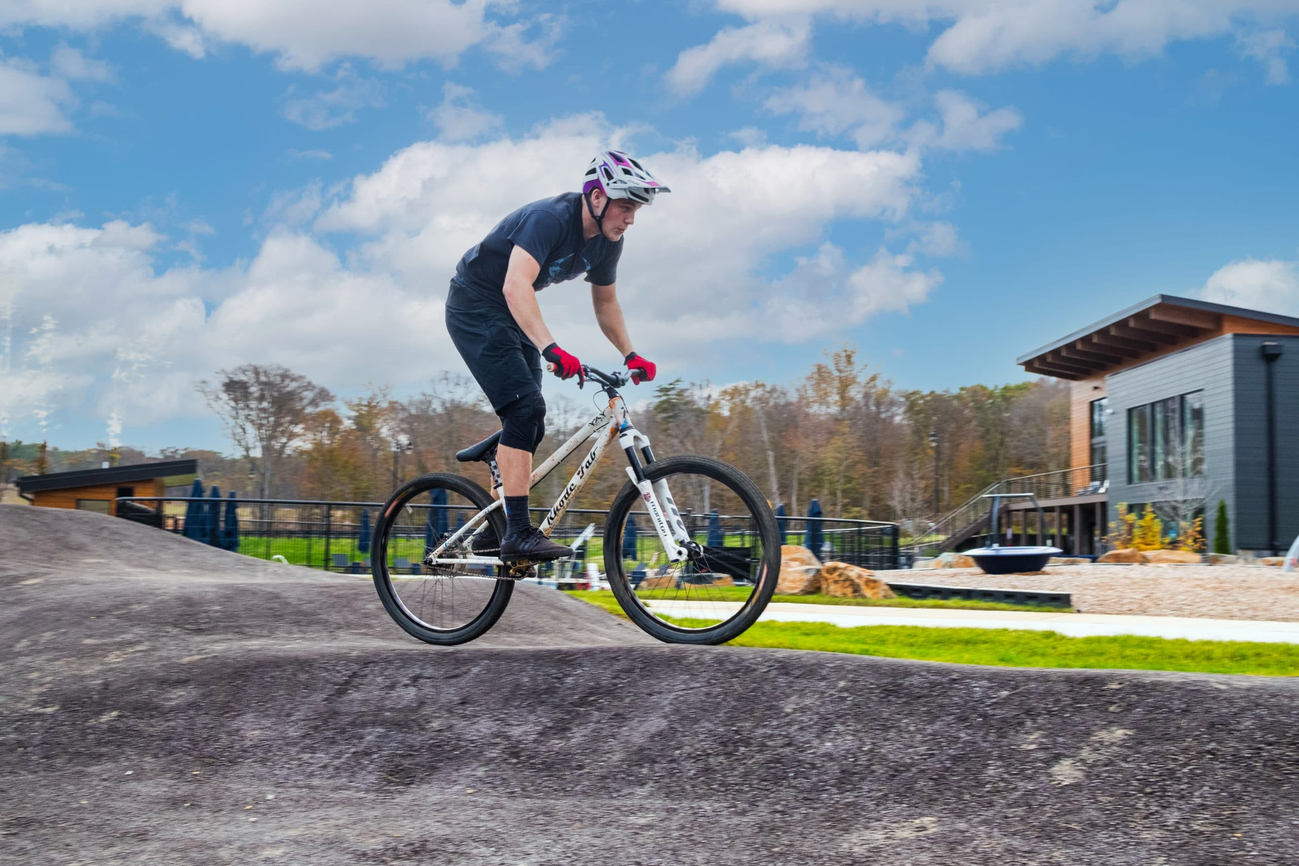 Enjoy the thrills of Watershed's bike pump track